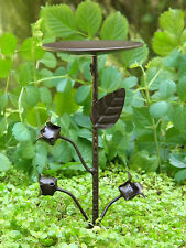 Miniature Dollhouse Fairy Garden ~ Iron Thistle Birdbath Pick