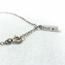 925 Sterling Silver TRUE PENDANT and Belcher Chain Necklace 42 cm