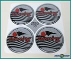 4x Silicone Sticker ∅= 55mm for Hub Caps Emblems Sticker with Silver tunning