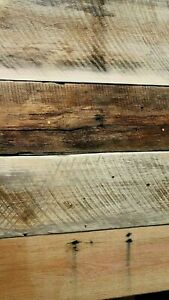 Barnwood mixed hardwood wide plank flooring wall coverings diy floating shelf