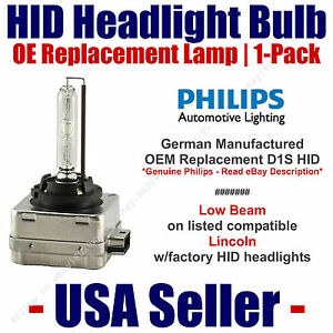 OE HID Headlight Low Beam GENUINE German - fits Select Lincoln - D1S