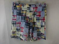 Men's Madras Shorts Multi colored Patchwork Size 36