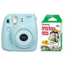 Fuji Instax Mini 8 Fujifilm Instant Film Camera Blue + 20 Sheets Instant Film