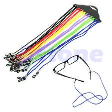 NEW Colorful 12Pcs Eyewear Nylon Cord Reading Glass Neck Strap Eyeglass Holder