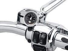 "Harley-Davidson NEW  OEM ORIGINAL Handlebar Thermometer - 1.5"" Black  Fahrenheit"