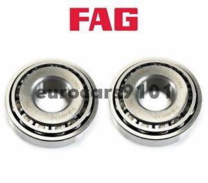 Porsche 356 FAG (2) Front Outer Right Wheel Bearings 111405645A 30304A