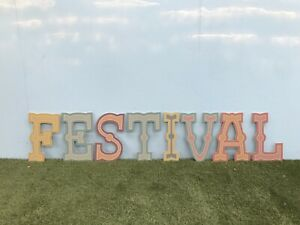 Large MDF Circus Style Festival Letters Sign Wedding Party Decoration CR
