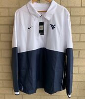 Nike West Virginia Track Coaches On Field Sideline Zip Pullover CQ5136-100 - XXL