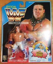 WWF/WWE Hasbro Wrestling BRITISH BULLDOG DAVY BOY SMITH SERIES 4 MOC 1991