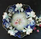 Rare Art Nouveau RS Prussia Cobalt  Bowl Iris Mold