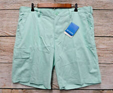 "Columbia Shorts Mens Size 38 Mint Green Doglake 10"" Cotton Cargo Shorts New"