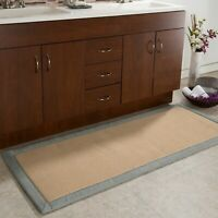 Memory Foam XL 60 x 24 Nonslip Accent Bathroom Kitchen Rug 2 x 5 Feet Gray