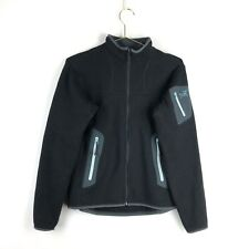 Arcteryx Fleece Jacket Size Medium 3M Outerwear Black Womens Zip Up Coat