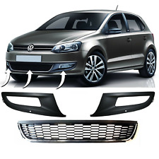 NEW VW POLO 6R 2009 - 2014 FRONT BUMPER LOWER RIGHT + CENTRE + LEFT GRILL SET