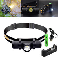 6 Modes LED Lamp Headlamp Flashlight Head Light Lamp Torch USB Rechargeable Hot