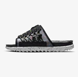 Nike Asuna Crater Slide SE Size 10 Black Grey White Unisex Sandal Slip DJ4629002