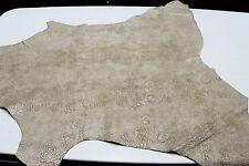 Italian Goatskin leather skin COATED BEIGE BUBBLES GRAINY 5sqf #A1801