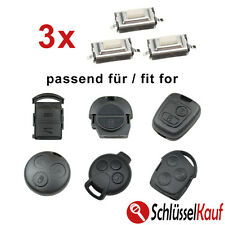 3x Mikrotaster Micro SMD Taster Autoschlüssel MERCEDES NISSAN OPEL PEUGEOT SMART