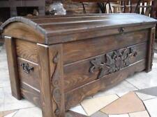 Massive handgemachte Holzkiste Truhe Box Holz Aufbewahrung Antik Dekoration FR2