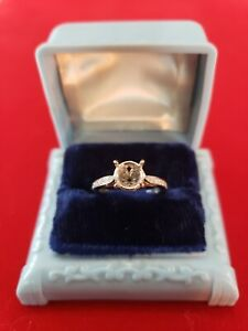 Estate Tacori 18k Halfway Diamond Semi Mount Engagement Ring Setting Size 5.5