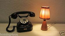 Dänische Tisch Lampe Fensterbank- Nachttischlampe Leuchte Holz '60er Jahre