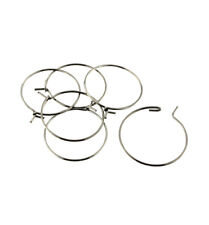 Silver Tone Stainless Steel Earring Wires - 20mm - 20 Pieces 10 Pairs - Fd792