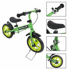 "12"" Green Kids Balance Bike Children Boys & Girls with Brakes and Bell Exercise"