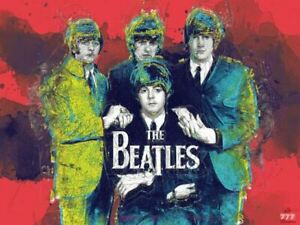 The Beatles Poster Music Wall Art Print (24x18)