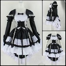 Bl Fancy lolita Princess Dress Maid Outfit Anime Cosplay Costume Party Halloween