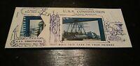VTG Souvenir Booklet Postcards USS Constitution 1950s Near Mint Unused Unposted