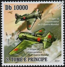WWII Polikarpov I-16 (Type 18 and Type 24) Russian Fighter Aircraft Stamp