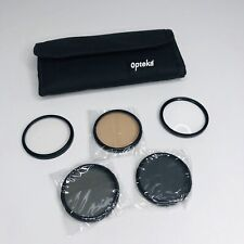 5-Pack Opteka High Def UV, ND4, CPL, FLD, +10 Macro Lens Filter Kit ALL 58mm (A)