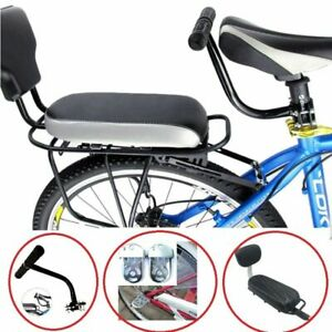 Kids Safety Cycling Seat Set Bike Back Seat Cushion Armrest Rear Feet Pedals