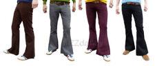 Pantalones de hombre marrones marrones de pana