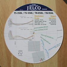 Jelco TS-350L/550L & TK-850L/950L Custom Designed Tonearm Alignment Protractor