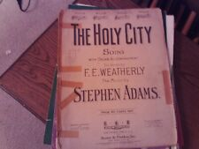 Adolphe Adam: The Holy City, med. low Bb, vocal - organ (Boosey & Hawkes)