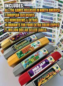 Nintendo 64 N64 End Labels All 296 Custom Game Stickers +103 homebrew, Variants