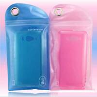 5Pcs Random Color Waterproof Bag Case Cover Beach Pouch For Cell Phone Swimming