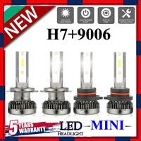 4PCS 9006+H7 LED Headlight Bulbs Conversion Kit 200W 48000LM 6000K Hi/Lo Beam UK