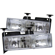 Chevy/GMC 88-98 C10 Full Size Pickup Truck Glass Headlights Lamps Set Pair