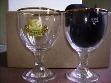 6 verres à bière GRIMBERGEN 25 cl + 6 sous-bocks