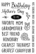 Technique Tuesday Clear Stamps - Mother's Mom's Day, Grandmother, Chauffeur