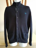 FRED PERRY MENS CARDIGAN SIZE M navy