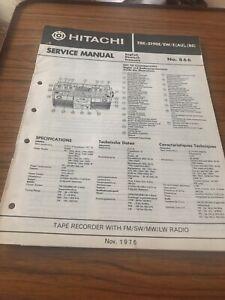 Hitachi TRK-5190E ,E  EW /E( AU) BS Tape Recorder Service Manual With Fm /SW/MW