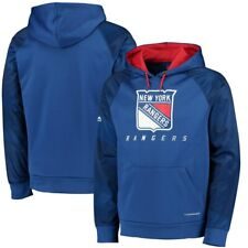322720153 NHL New York Rangers Royal Armor Pullover Synthetic Thermabase Hoodie  Majestic