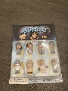 Homies Big Heads Series 1 Set Of 8 Miniature Figures New  2015 Free Vintage