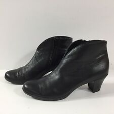 Munro American Black Leather Robyn Bootie Ankle Boots Size Zip Size 6.5N