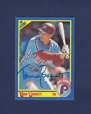 Tom Barrett signed Philadelphia Phillies 1990 Score Rookie Card