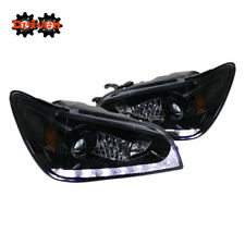 For 01-05 Lexus IS300 LED DRL Switchback Turn Signal Projector Headlights Smoked