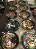 Lot Of 10 Vintage Tianex Russian Legends Fairy Tale Plates Signed Collectors 8""